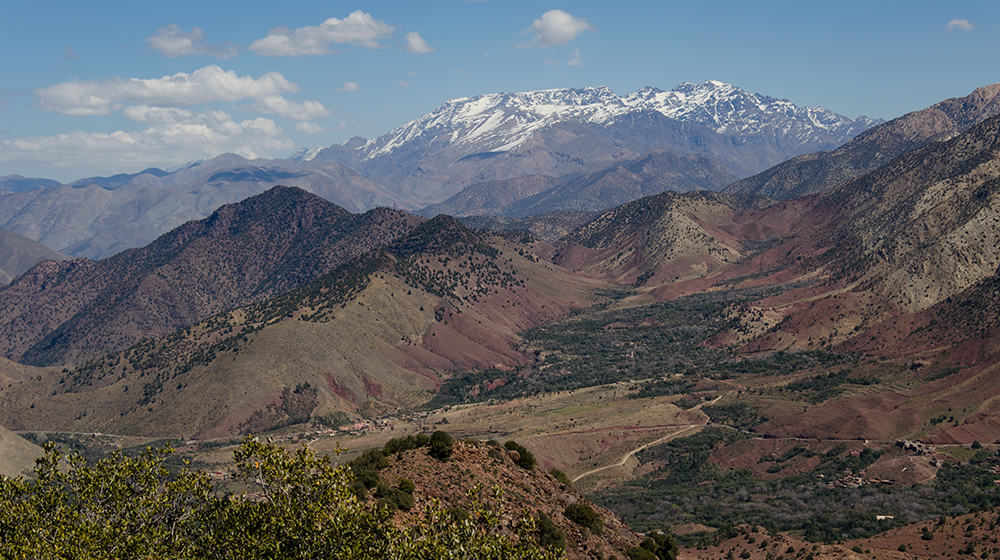 The Toubkal Massif from near Tizi n'Test
